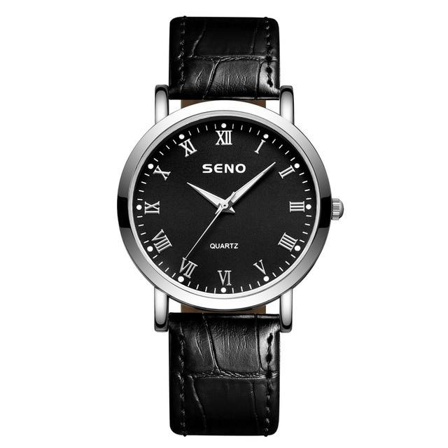 2021 minimalist couple fashion ultra-thin watch simple couple gift watch belt couple watch men and women cheap decoration watch
