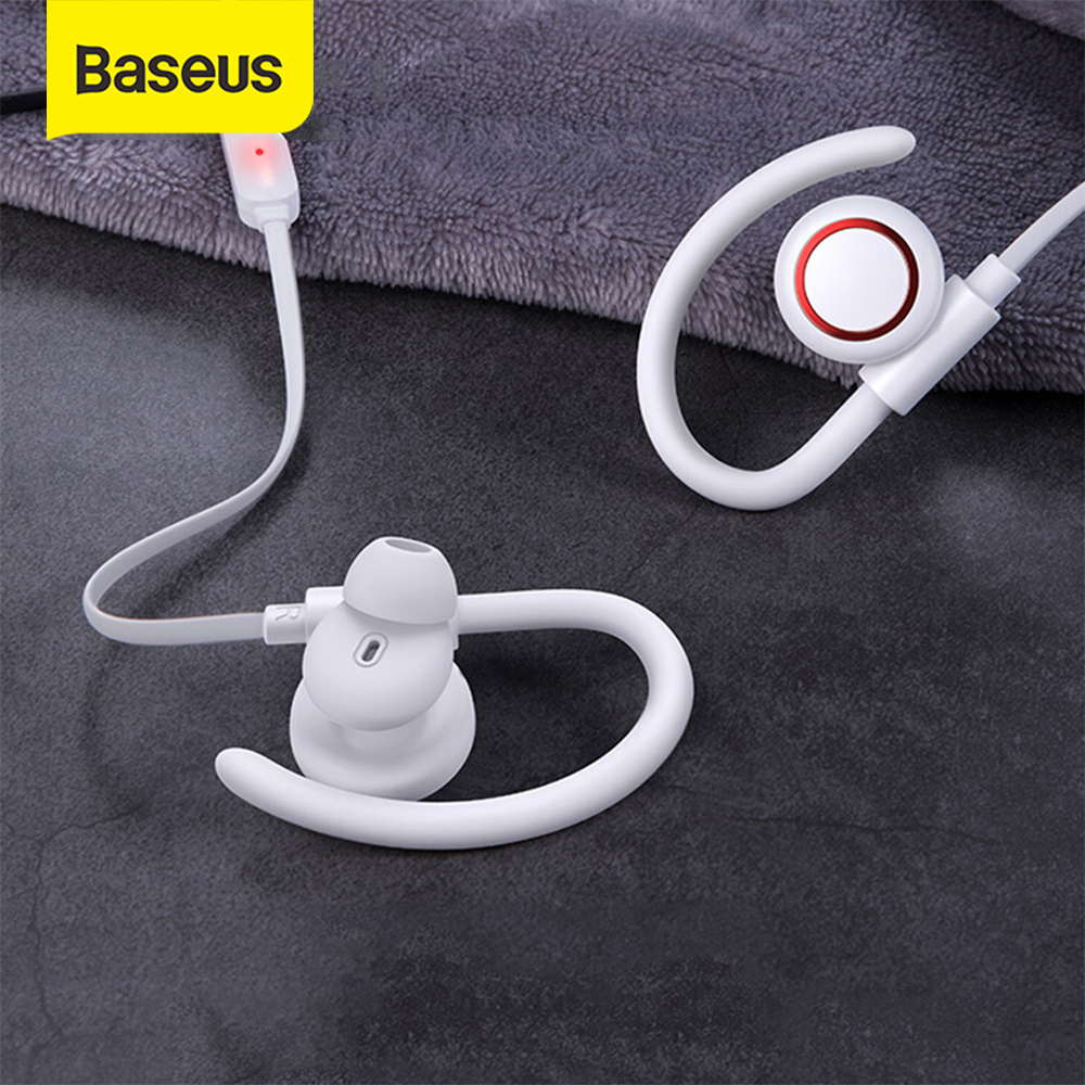 Baseus encok s17 waterproof stereo bluetooth earphone anti-shedding ear hook ipx5 sport wireless earphone with magnetic adsorption