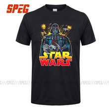 T Shirt Men's Empire Falling Star Wars Adult Round Collar Short T-Shirt Popular Adult Flower Shirts For Guys(China)