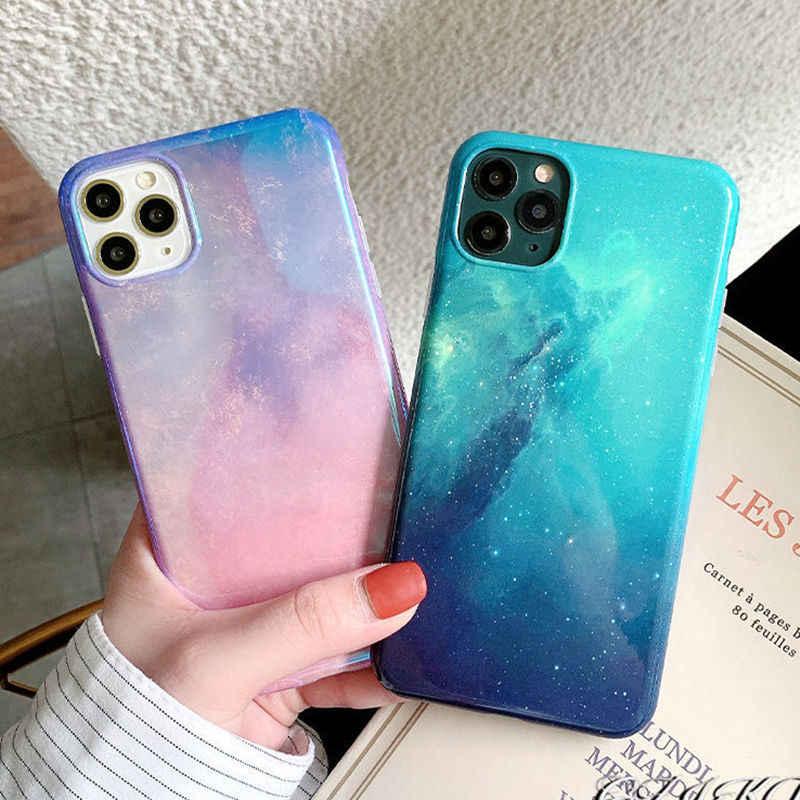 LOVECOM custodia per telefono Glitter Blue-ray Dream cielo stellato per iPhone 12 Mini 11 12 Pro Max XR X XS Max 7 8 Plus custodia Cover posteriore ...