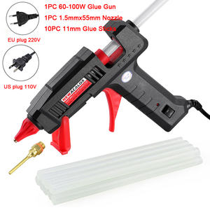 Image 4 - NEWACALOX 60W/100W Hot Melt Glue Gun with 11mm Hot Melt Glue Sticks Heat Temperature Tool 110V/220V Mini Guns Thermo Gluegun