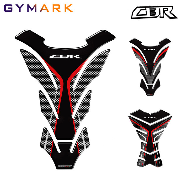 3D Carbon Motorcycle Tank Pad Protector Decal Stickers For Honda CBR 250RR 600RR 900RR 1000RR 650F 500R Fireblade.