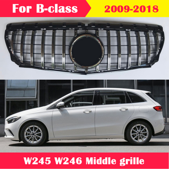 ABS plastic front grille GT vertical bar Car styling Middle grille for Mercedes-Benz B-class W245 W246 B200 B260  2009-2018 for mercedes benz gla x156 front grille silver abs gla45 amg gla180 gla200 gla250 without central logo front racing grille 14 16
