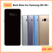 For Samsung Galaxy S8 G950F Back Housing Battery Cover Rear Door Glass + Camera Lens For Samsung S8 Plus G955F Back Glass