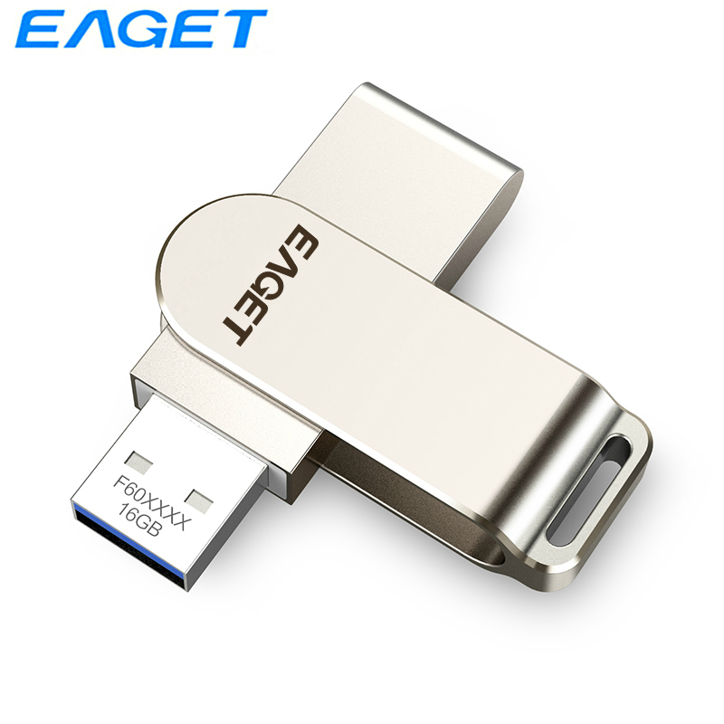 Eaget USB 3.0 Flash Drive 256G 128GB Stylish Pendrive 64GB 32G Durable Pen Drive Memoria USB Key Memory Stick Flash Disk F60