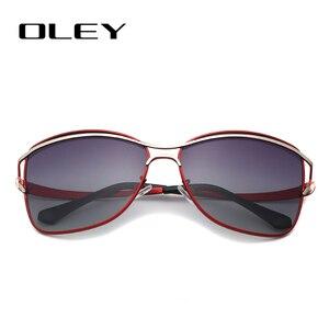 Image 3 - OLEY Brand Designer Big Frame Sunglasses Butterfly Shades For Women Fashion Quality Female Polarized glasses UV400 Y7215