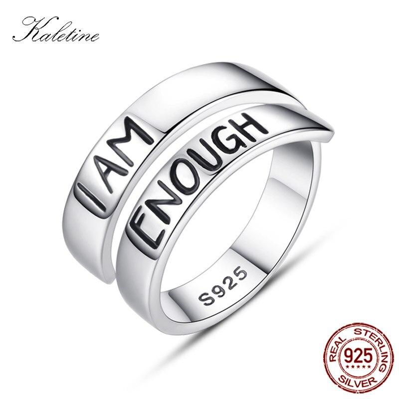 Женское Открытое кольцо с надписью KALETINE, серебряное кольцо с 925 пробы, ювелирное изделие для знаменитых браслетов, подарок для мужчин, 2019