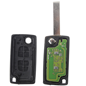 Image 2 - Kutery  10pcs 2 Buttons Remote Car Key ASk 434Mhz  For Citroen Peugeot With HU83 Blade CE0536