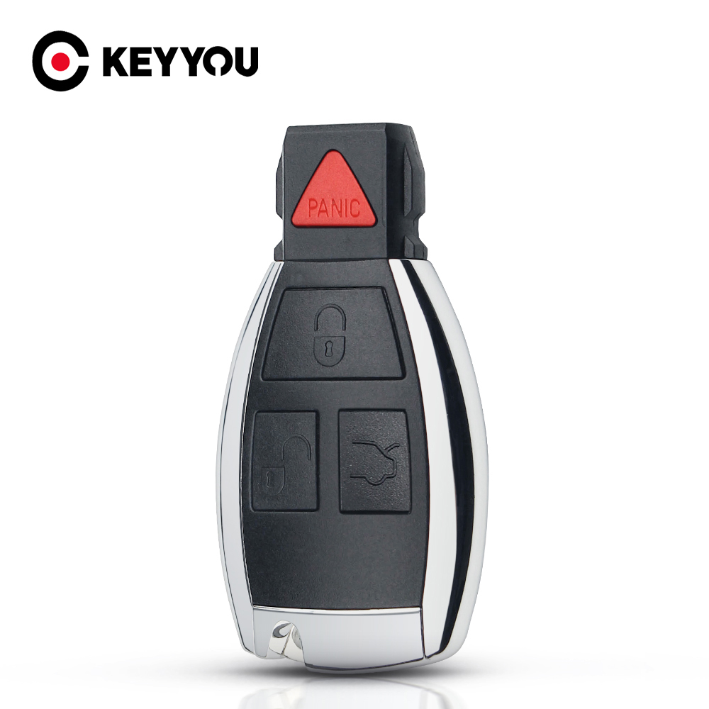 KEYYOU For <font><b>Mercedes</b></font> Benz C B E Class <font><b>W203</b></font> W211 W204 YU BN CLS Modified Smart <font><b>Key</b></font> Shell <font><b>Key</b></font> Case Fob 3+1 4 Buttons Rreplacements image