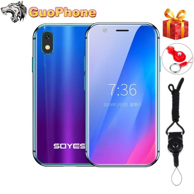 SOYES XS Super Mini teléfono inteligente 2GB RAM 16GB ROM Android 6,0 3 Dual Sim Quad Core de vidrio cuerpo más pequeño de 4G LTE móvil teléfono