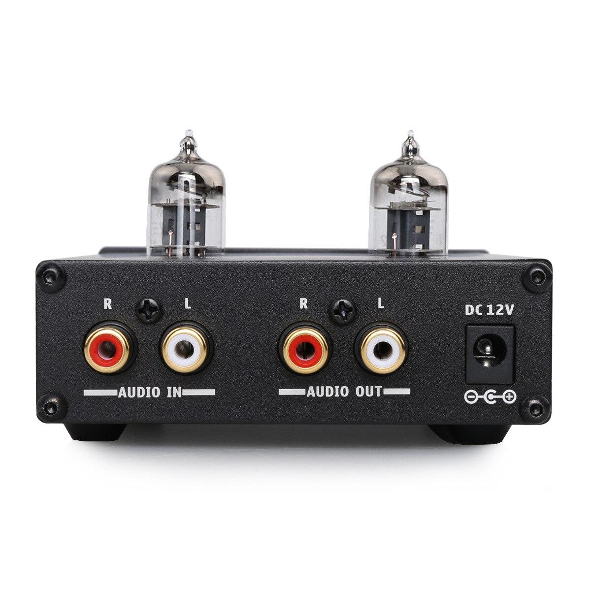 Amplificateur à Tube platine vinyle aluminium enregistreur universel 6J1 préamplificateur casque Mini maison HIFI DC12V1A Support TV DVD DAC téléphone - 2