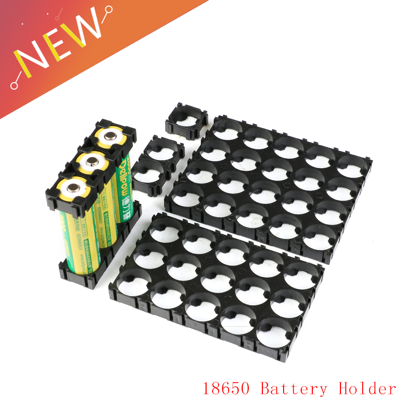 5Pcs 1/2/3/15/20P Cell 18650 Battery Holder Bracket DIY Cylindrical Batteries Fixture Anti Vibration Case Storage Box Container