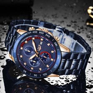 Image 5 - ผู้ชายที่ดีที่สุดของขวัญ LIGE แฟชั่นธุรกิจชายนาฬิกาแบรนด์หรูนาฬิกาสแตนเลสชายนาฬิกาควอตซ์ Relogio masculino