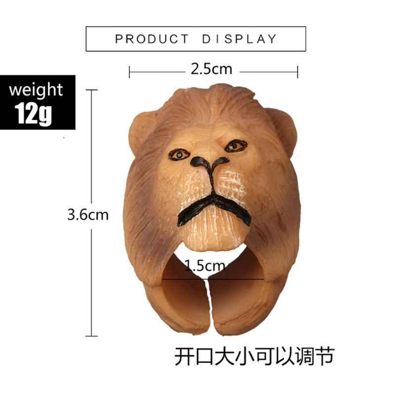 3D мультяшное Животное Собака Панда Свинья Тигр обезьяна Открытое кольцо на палец модные ювелирные изделия W2952001
