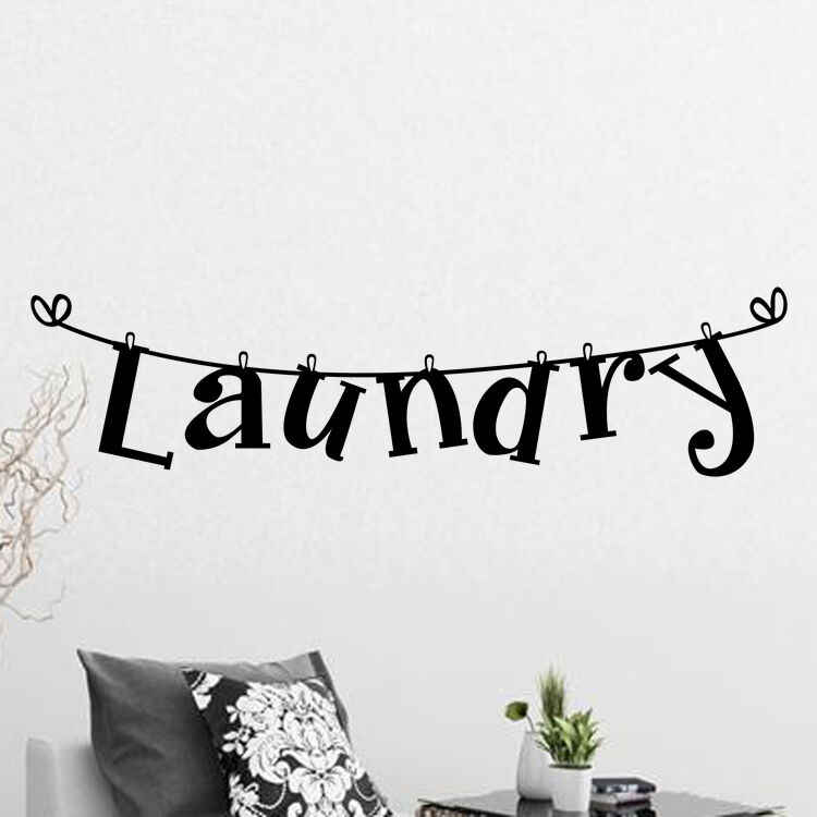 Najnowszy moda kreatywność pralnia ścienna cytat naklejki winylowe napis sztuka nowoczesna pralnia wystrój pokoju