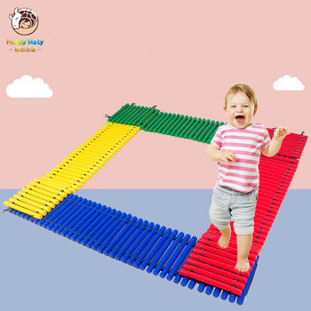 Early Education in Kindergarten Balance Trails for Children Balance Beams for Baby Step-a-Logs Baby Sensory Training Equipment logs
