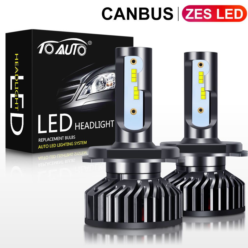 2pcs ZES LED Chips H4 Canbus H1 H3 H7 H8 H11 HB3 9005 HB4 9006 LED Car Headlight Bulbs H27 880 881 Auto Head Lamp 12V 5000K