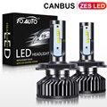 ZES светодиодный ные чипы H4 Canbus H1 H3 H7 H8 H11 HB3 9005 HB4 9006, светодиодные лампы для автомобильных фар H27 880 881, автомобильная фара 12 в 5000K, 2 шт.