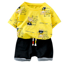 Kids Short Sleeve New Summer Children Clothing Baby Boys Girls Print T Shirt Shorts 2Pcs/sets Infant Clothes Toddler Tracksuit new arrival summer toddler boys kids clothes short sleeve t shirt shorts 2 piece set baby boys girls clothing sets