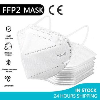5-100Pcs KN95 Face Masks FFP2 Filtering Facial Filter Mouth Masks Dustproof Safety mask Protective Respirator Dust mascarilla