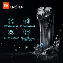 Xiaomi Electric Shaver 3D Triple Floating Blade Heads Shaving Razors Men Facial Beard Trimmer USB Machine