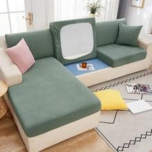 Conjuntos de capas de sofá de veludo elástico para sala de estar mobiliário de pelúcia slipcovers elástico capa de assento 1/2/3/4 seater