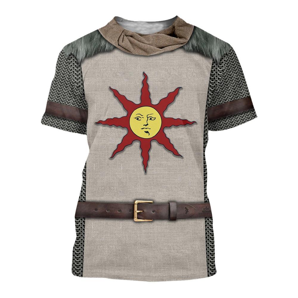 3D Printed Knight Armor Men t shirt Knights Templar Harajuku Fashion Short sleeve shirt summer hip hop Unisex tshirt tops XS-7XL