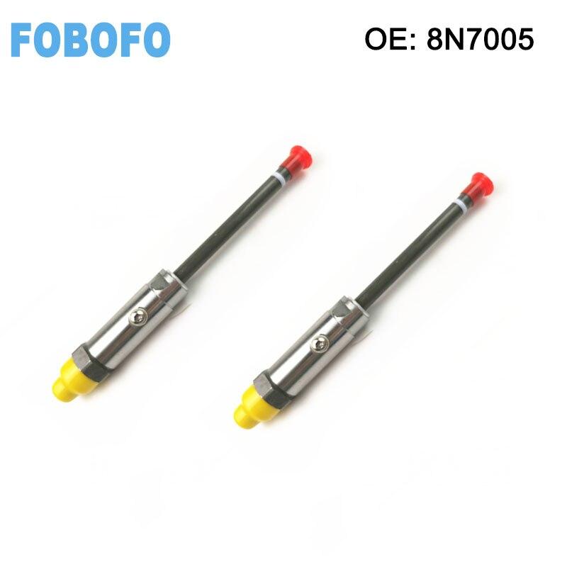 6 PCS Fuel Injectors Pencil Nozzle Assembly Fit Caterpillar CAT 3304 3306 8N7005