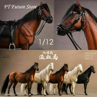 1/12 Collectible JXK013 Hannover Horse Warmblood Anime Statue Palm Figure Toys with Harness Model for 6 inches Action Figure