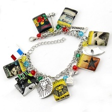 New Arrivals Fashion Jewelry The Phantom of the Opera Heathers the Les Miserable wicked charm bracelet Christmas gifts
