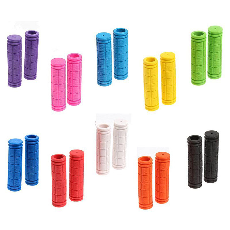 Colourful Non-Slip Rubber Bike Handlebar Grips for Scooter Tricycle Wheel Chair Mountain Road Urban Foldable Bike MTB BMX