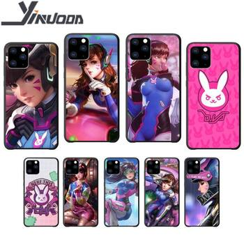 Yinuoda Overwatch ow DVA D VA soft TPU black case coque for iphone se 2020 6 6s 7 8 plus x xs max xr 11 12 pro max cover image