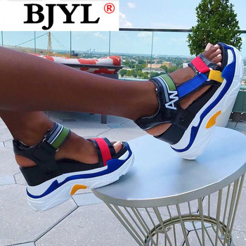2020 New Fashion Platform Sandals Women Shoes Summer Super High Heels Ladies Casual Shoes Wedge Chunky Gladiator Sandals