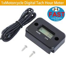 1xMotorcycle Portable Digital Tach Hour Meter Gauge LCD for 4 Stroke Gas Engine Offroad Panel Hour ATV Motorcycle Generator Bike new timer control panel gauge hour meter 285 9075 for 320c 320d
