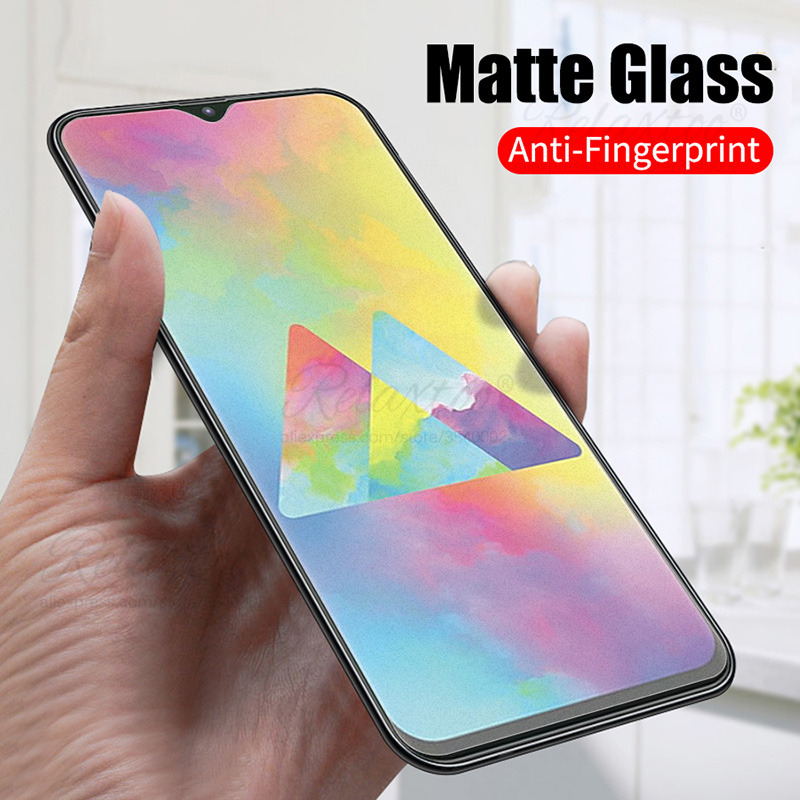 No fingerprint Matte <font><b>Glass</b></font> for <font><b>samsung</b></font> <font><b>galaxy</b></font> M10 M20 M30 Screen Protector Frosted Tempered <font><b>Glass</b></font> for <font><b>m</b></font> 10 <font><b>20</b></font> 30 protective film image