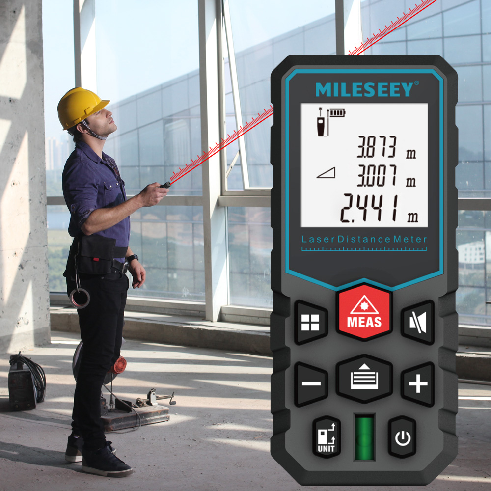MiLESEEY Laser Distance Meter with Auto Laser Off and for Volume and Area Measurement