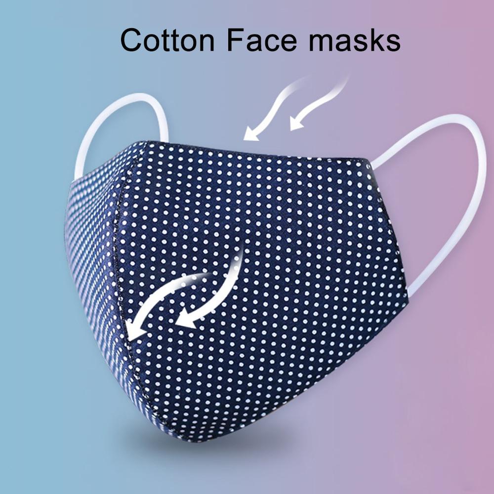 Cotton Face Masks Colth Washable Rusable Mouth Masks Sport Breathable Print Mask Korean Fashion Masker Adult Women Men