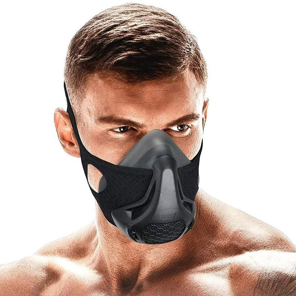 Breathable 24 Breathing Resistance Levels Unisex Running HIIT Training Outdoor Sports Fitness Mask Polyester + Spandex
