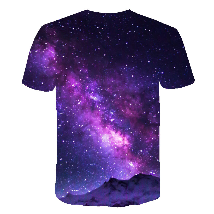 Hot Summer 2020 Men's T Shirt Magic Stars Galaxy 3D Print Short-sleeved T-shirts Hip-hop T-shirt Funny  Casual Shirt Male 6XL