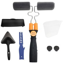 Multifunction Paint Roller Brush Tools Set Household Use Wall Decorative Handle Flocked Edger Tool Painting