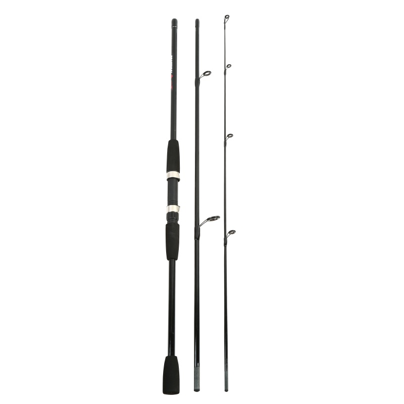 Fishing-Tackle-Lure Rod Glass-Fiber Spinning 3-Section Detachable Power-Hand title=