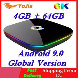 Image 1 - Allwinner H6 6K Smart TV Box Android 9,0 4GB RAM 64GB ROM QuadCore Play store Youtube Wifi set Top Box 2G16G Media Player Q Plus
