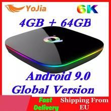 Allwinner H6 6K Smart TV Box Android 9.0 RAM 4GB ROM 64GB QuadCore Play Store Youtube Wifi set Top Box 2G16G Chơi Phương Tiện Q Plus