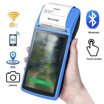 5 inch POS Terminal Printer 58mm receipt USB Bluetooth Printer Touch Screen WIFI portable wireless Handheld Pos System Machine недорого