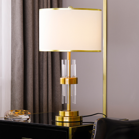 lampadas de mesa cristal moderno para