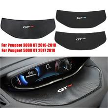 Для Peugeot 5008 GT 4008 3008 GT 2016 2017 2018 Автомобильный дисплей панель накладка Противоскользящий метр коврики для приборной панели внутренняя панель