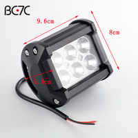 Motorcycle 12V LED Super Bright Work Light Refitting Auxiliary Spotlight Spot Off Road Driving Truck Motorboat Tractor Barra -