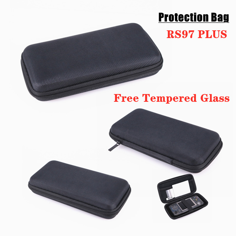 Image 4 - HEYNOW Protection Bag for Retro Game Console RG350 RG300 RS97 Plus KIII LDK Landscape Version PocketGo Game Player , Free Tempered Glass For RS97 Plus PocketGo LDK Handheld Retro Game Console-in Bags from Consumer Electronics