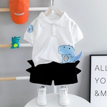 Baby Outfits Shorts Summer Suit Toddler Boys Children 1-4-Year-Old 2pieces Top Black