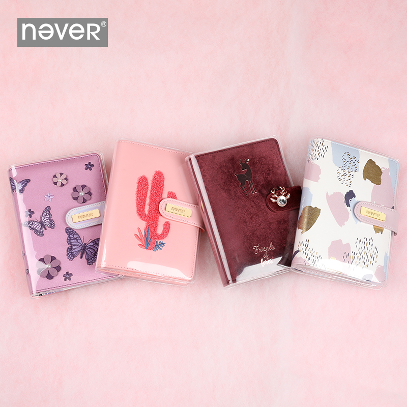 Never A6 Planner Organizer Spiral Notebook Transparent PVC Protect Cover Protective Shell For Never Diary Office Stationery